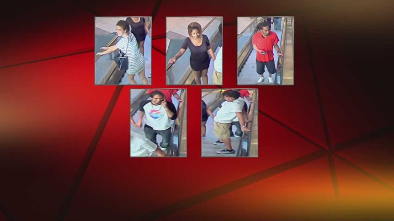 Overland Park police release the pictures of five people they say were directly or indirectly involved in an incident where shots were fired in the parking lot outside Oak Park Mall.