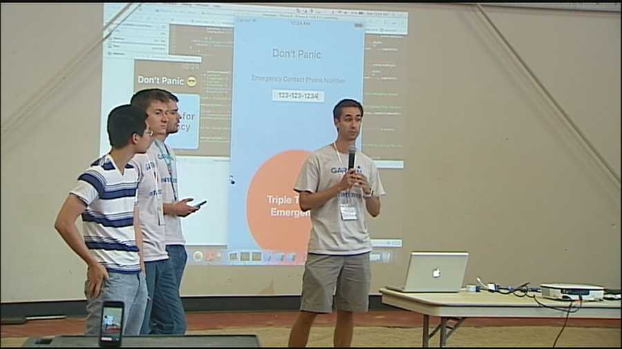 People in Kansas City who work with computers and other tech tools got together to create something exciting during a weekend Hack-A-Thon at Johnson County Community College.