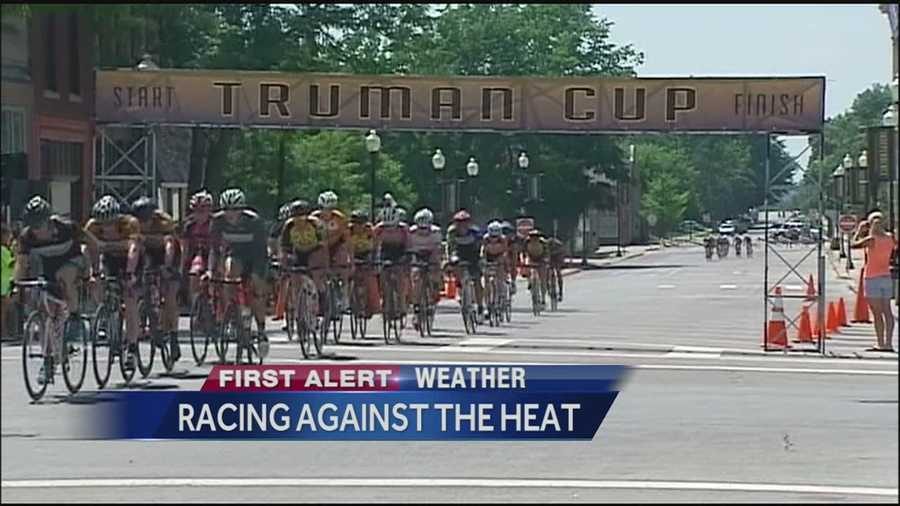 More than 300 cyclists wrapped up a two-day race in Independence Sunday afternoon in sweltering conditions.
