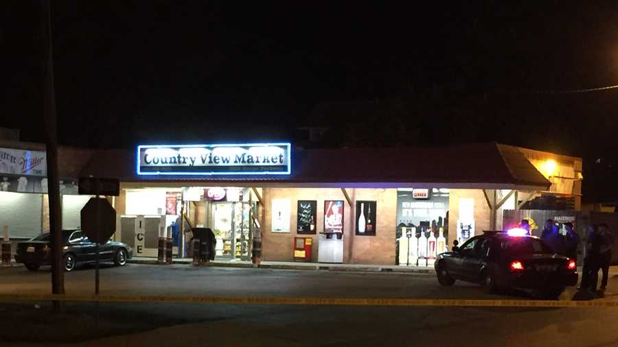 Kansas City police are investigating a shooting at Country View Mart, 5802 Swope Parkway, Thursday night.