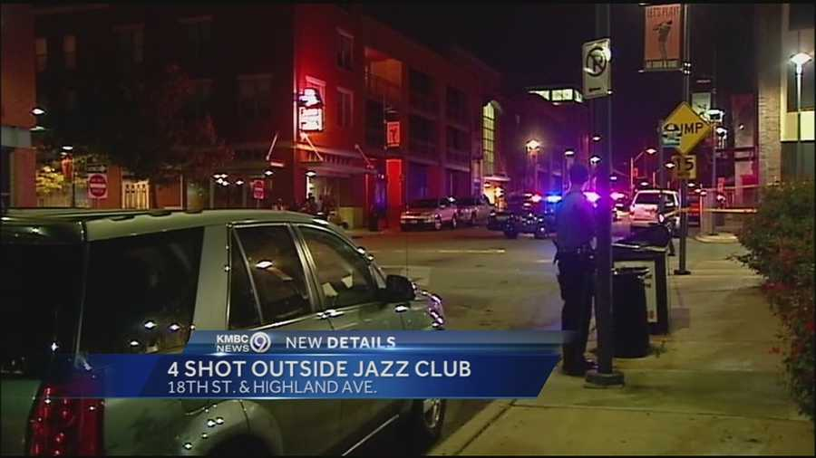 Four people were injured in a shooting early Sunday in Kansas City's 18th and Vine jazz district and leaders of the neighborhood association are urging someone to come forward.
