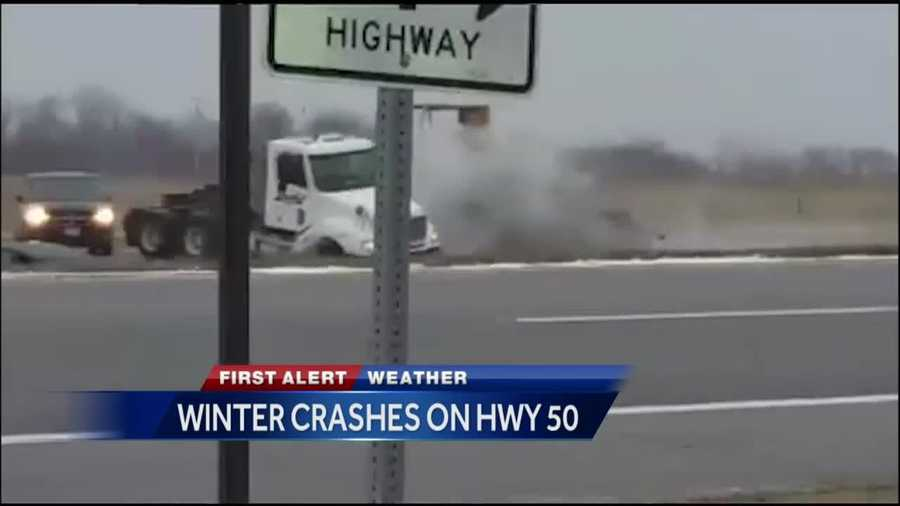 Crews have spent the past couple of days working around the clock to salt and plow roadways to keep them safe, but ice and snow and speed still led to quite a few crashes.