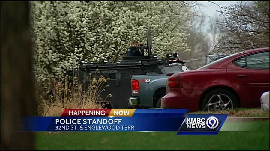 Police are at the scene of a standoff in Independence.