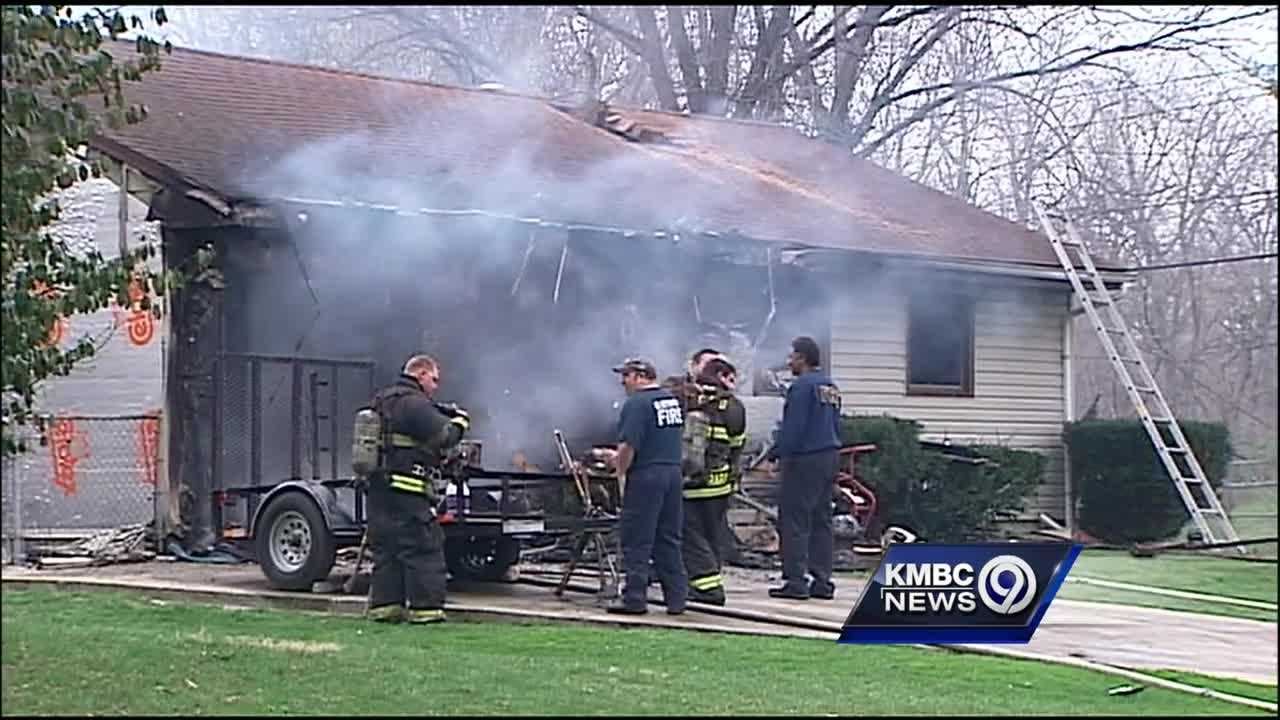 An east Kansas City couple lost their home in a fire Wednesday morning.