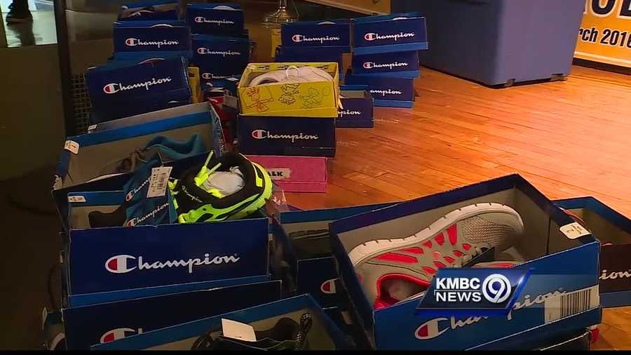 Royals player Christian Colon is making sure children have nice shoes for school.