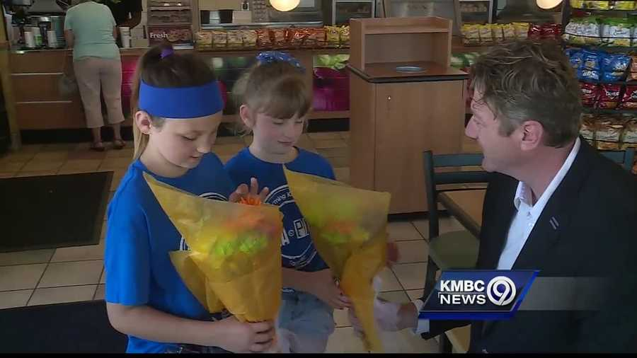 Two young girls got a special invitation to summer camp, thanks in part to their mother's boss.
