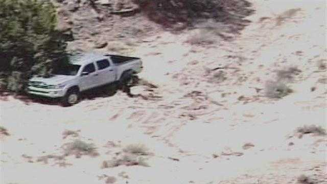 A day of fun in the desert, turned into a nightmare Monday for a man who ended up lost and stuck.