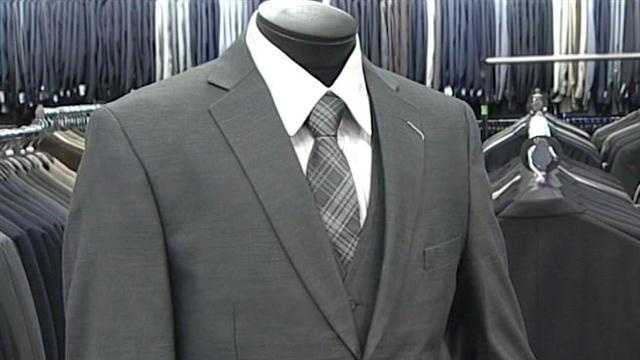 Two designer suits will soon go to Albuquerque men who need them for job interviews.