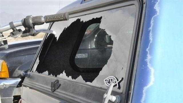 A major mess to clean up on the White Sands Missile Range, high winds ripped roof tops and varying pressure busted out windshields.