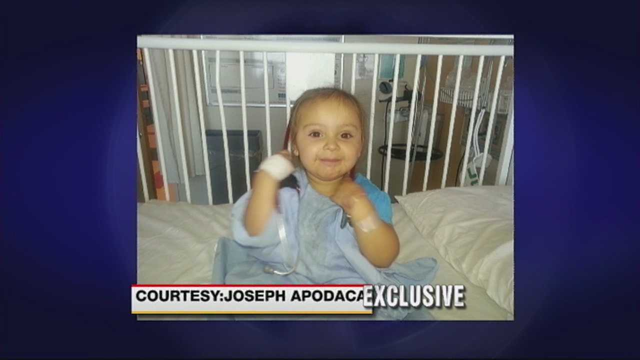 A one-year-old is recovering at home, after she was shot in the leg yesterday in southeast Albuquerque. Action seven news reporter Aaron Hilf spoke exclusively with the child's father who says he still can't believe his little girl was caught in the crossfire