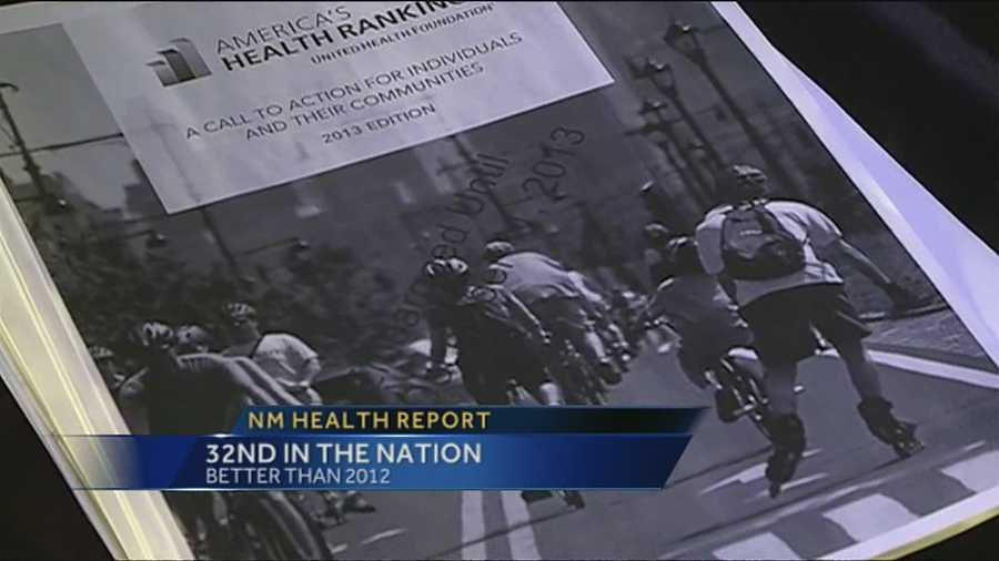 The new report shows the overall health in New Mexico has improved from 2012.