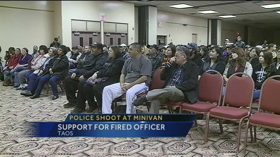 Some Taos residents...outraged over the firing over one of its hometown state police officers.