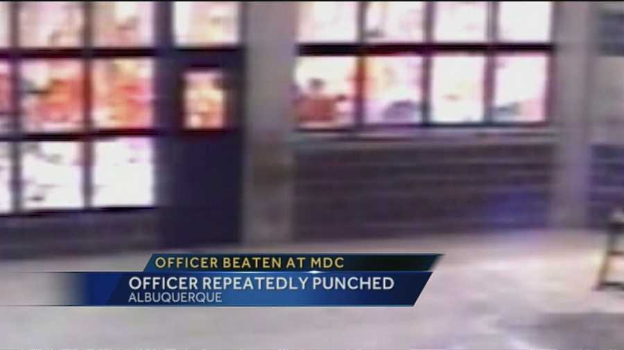 Recently released surveillance video shows what appears to be a brutal attack on a corrections officer at the Bernalillo County jail.