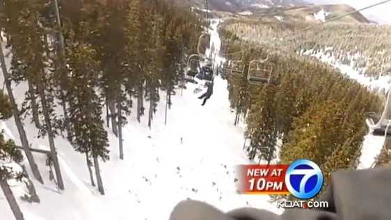 VIDEO: Teen's chairlift fall captured on camera | A teenager fell more than 45 feet from a chair lift at a New Mexico ski resort, and now his friend who shot the video is speaking exclusively to Action 7 News.
