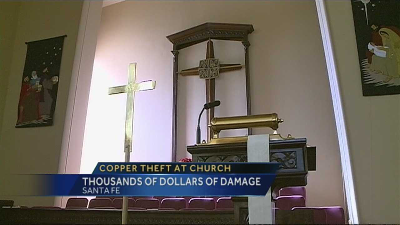A church in Santa Fe was violated this Christmas season.
