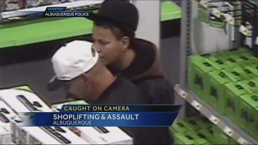 Shoplifters at a local Best Buy, pull a knife while trying to make their get away.