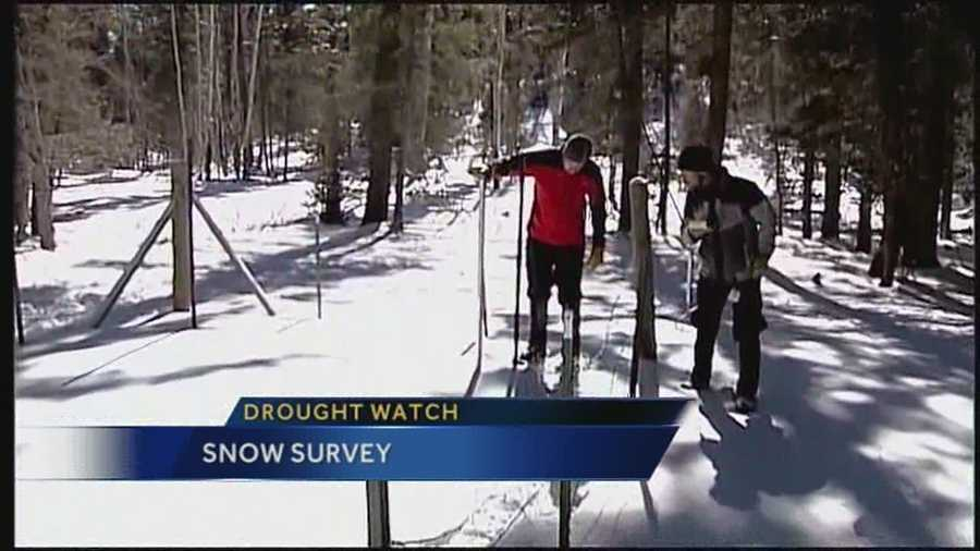 On the drought watch First Alert Meteorologist Byron Morton tags along with a snow survey team.