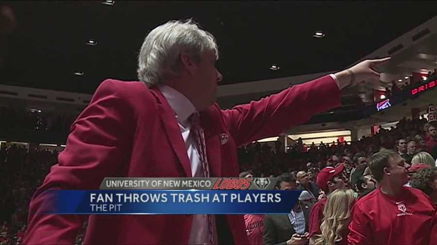 University of New Mexico officials believe they've identified the fan who threw a cup from the stands at San Diego State University basketball players during a recent game at The Pit.