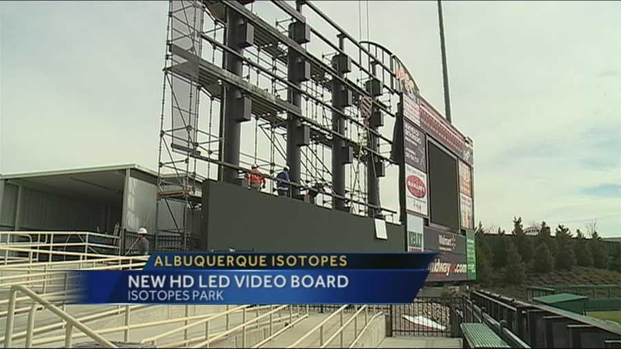 There will be a new video board at Isotopes Park this season.