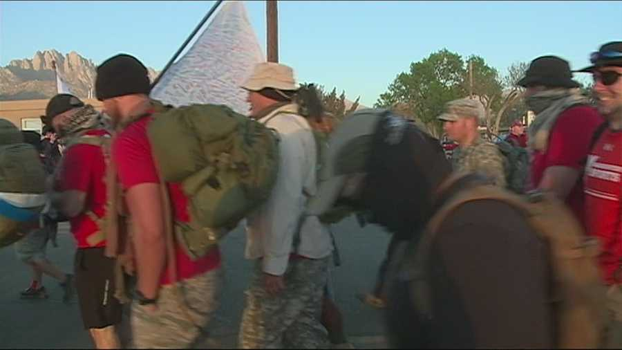 THOUSANDS REPORTED TO WHITE SANDS MISSILE RANGE TODAY, TO MARCH FOR A SPECIAL GROUP OF HEROES.