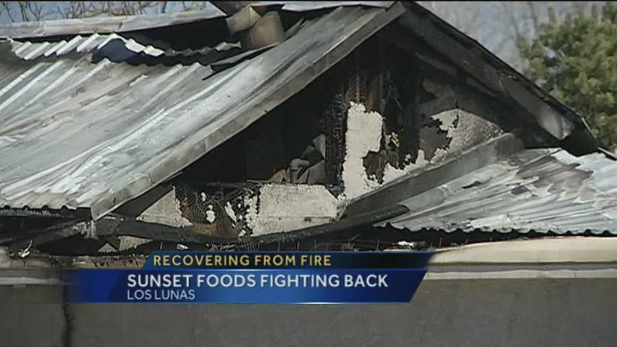 Sunset foods is fighting to reopen after flames ripped through its processing plant.