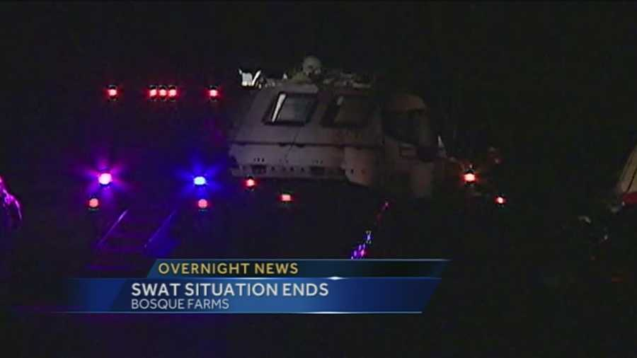 A SWAT situation that started Wednesday night is over, but police did not get the man they were looking for.