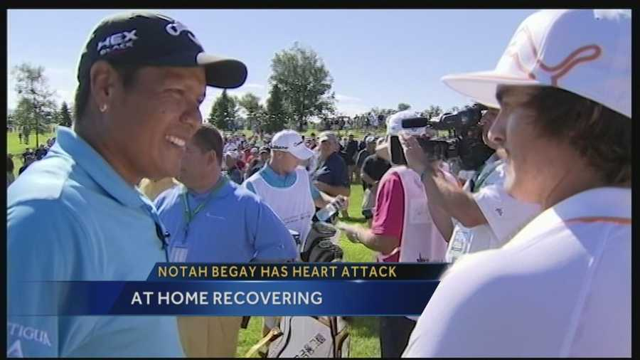 Golf great Notah Begay suffered a heart attack this past week.