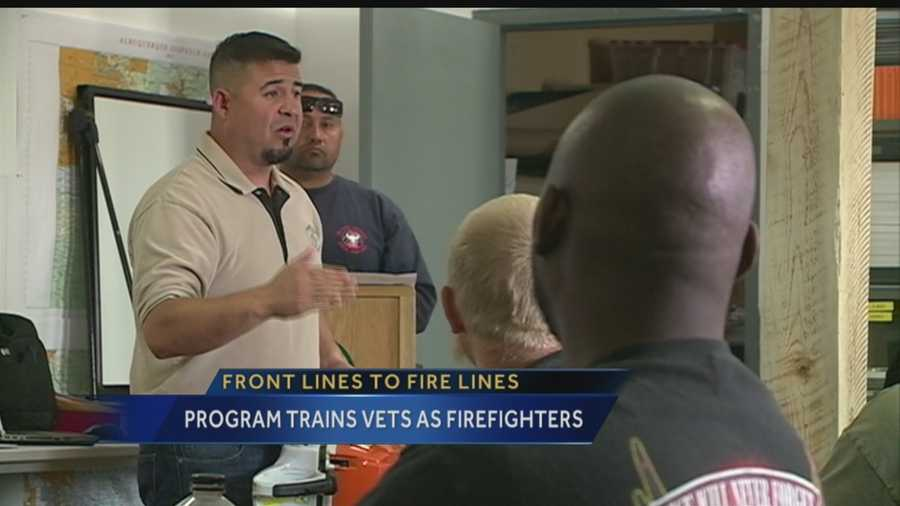 New Mexicans who risked their lives in war are doing it again this time on the front lines of wild fires.