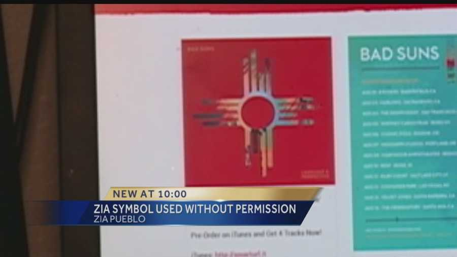 A sacred symbol is being used as a rock band's album cover and the Zia Pueblo is upset.