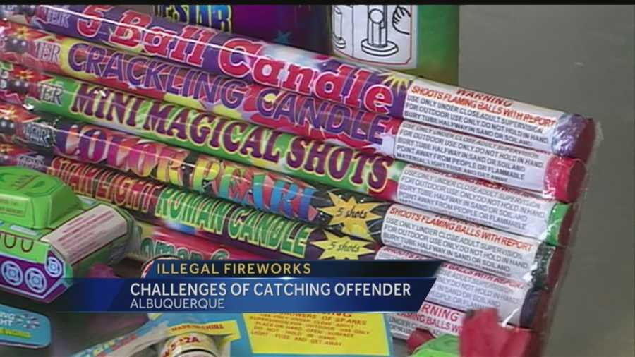 Light off an illegal firework and you'll get fined.