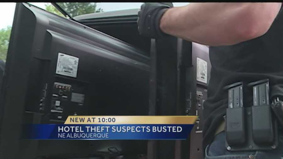 Two people are accused of breaking into motel rooms and stealing luggage and electronics.