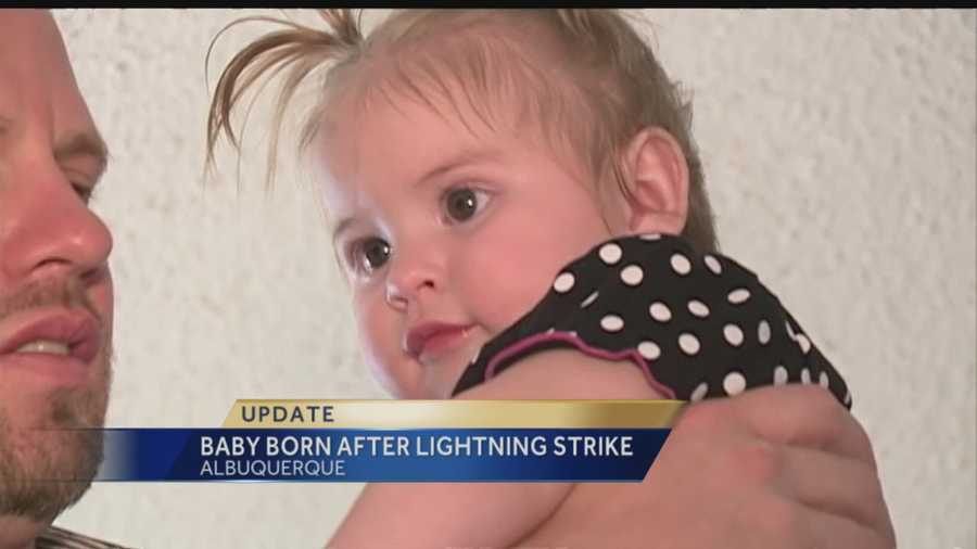 One year after a pregnant woman was struck by lighting, her baby has neurological damage.