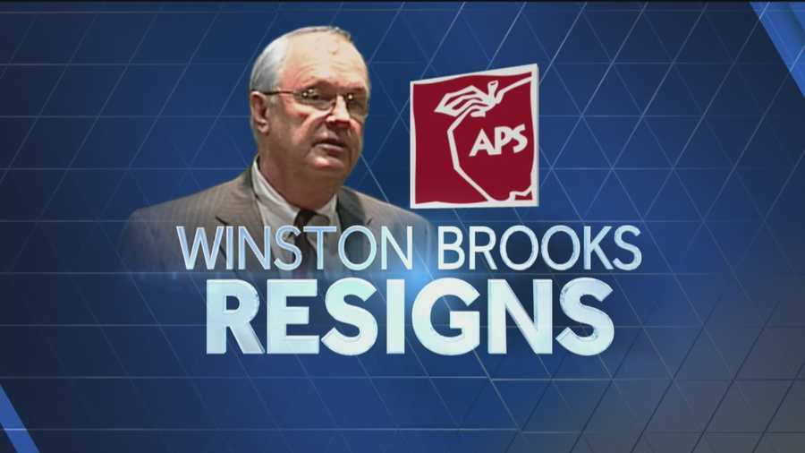 APS Superintendent Winston Brooks has resigned.