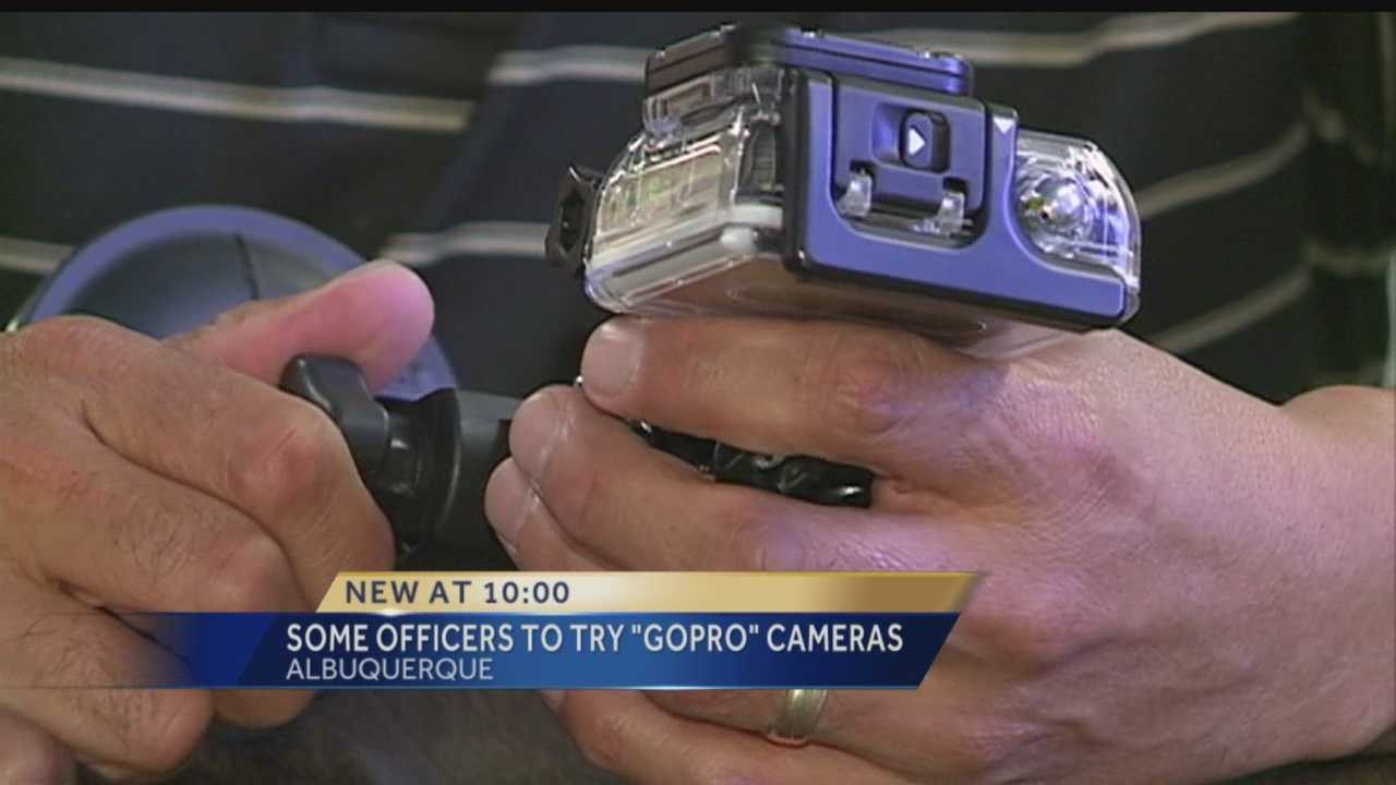 Five GoPro cameras, which each retail for about $500, were donated to APD by local retailers.