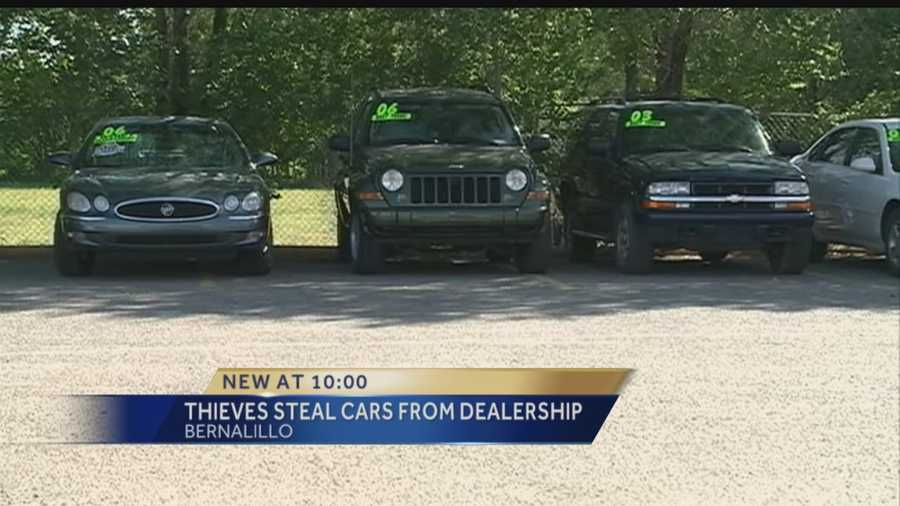 A car dealership is out big bucks after thieves stole several cars from the lot last night.