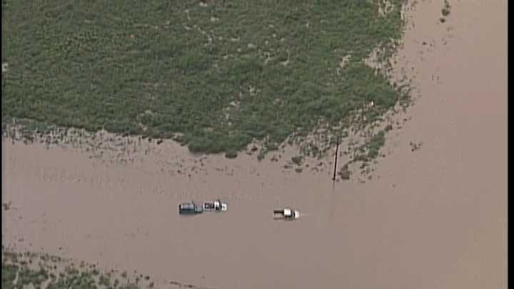 Image of an Eddy County flooding