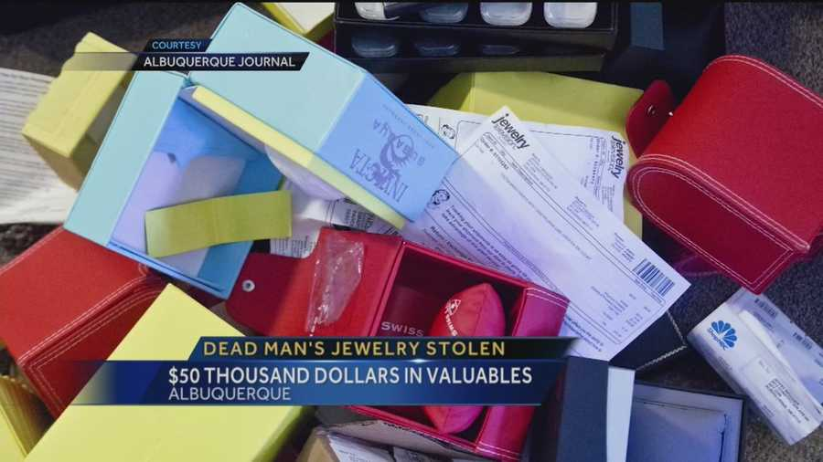 A dead man's valuables -- $50,000 worth of jewelry -- gone. His apartment was ransacked. But there's one thing that may help police track down who took off with the goods.