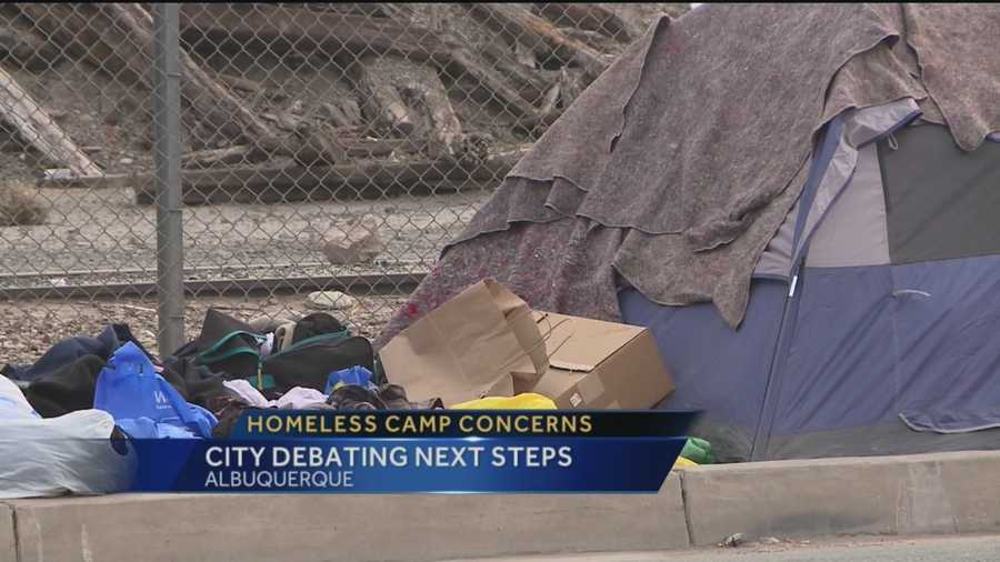 A homeless camp near the center of downtown Albuquerque, just keeps growing.