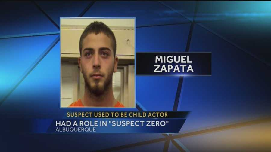 "Miguel Zapata is charged with attempted murder. Zapata was a child actor, playing a role in the 2004 crime thriller ""Suspect Zero."""
