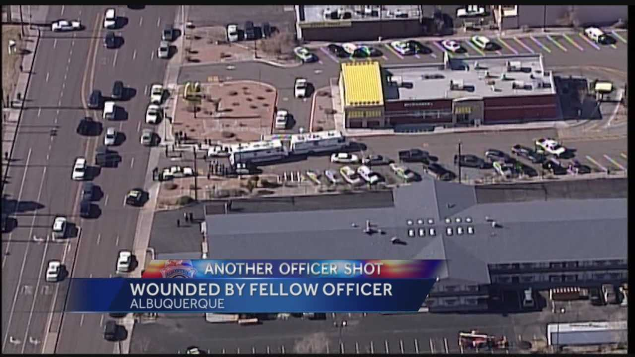 An Albuquerque police officer shot a fellow officer during an undercover narcotics operation Friday afternoon, according to sources.