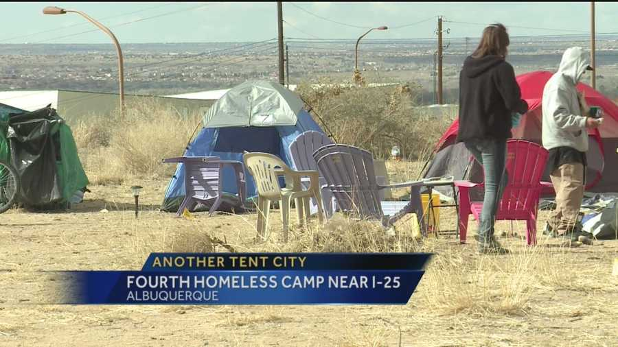 A new Tent City has popped up in northeast Albuquerque.