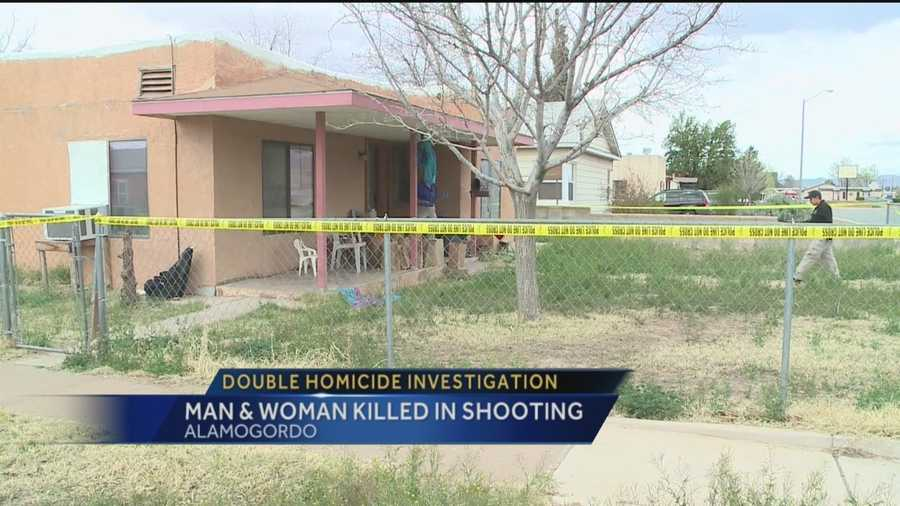 A man and woman were shot to death at a home with four kids inside Thursday.