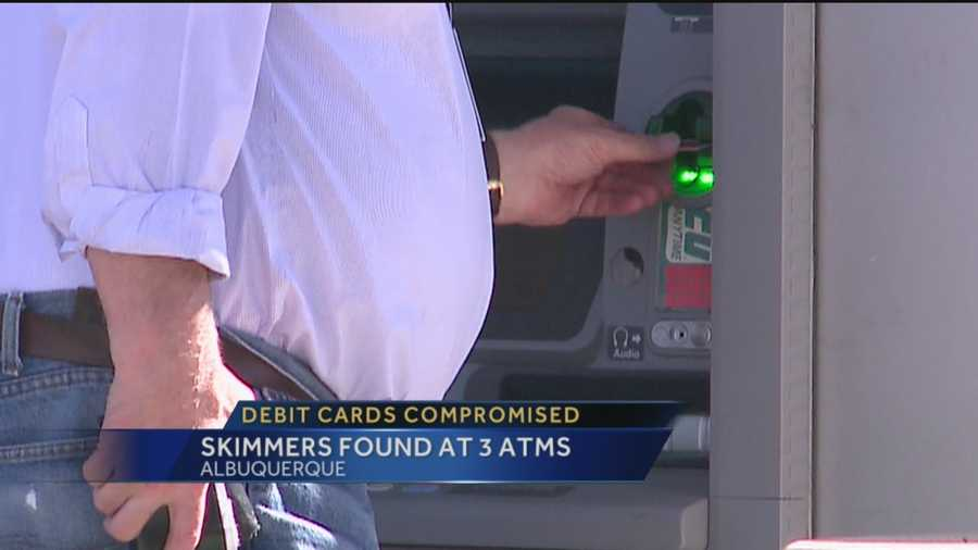 Police have found skimmer devices at three different ATMs, and believe two men stolen personal information from nearly 70 people during a 12-hour span.