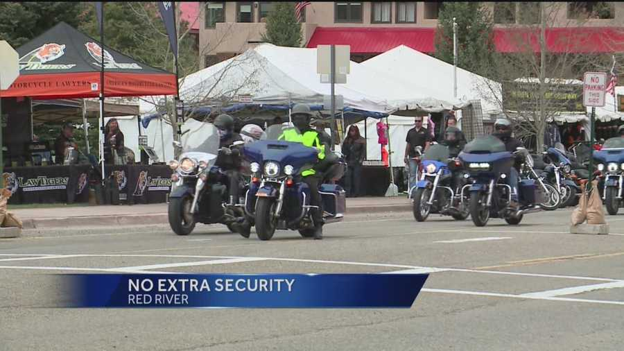 Security is the top priority as 20,000 bikers get ready to roll into Red River.