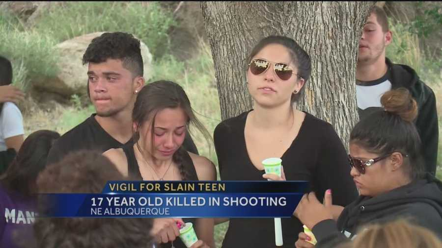 Tonight a vigil was held for the Albuquerque teenager killed in a possible drive by shooting.