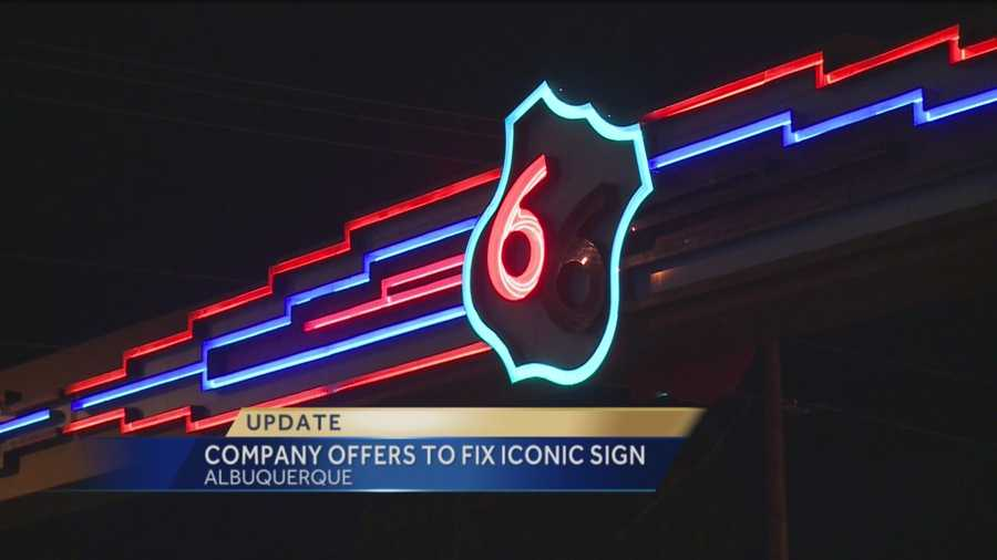 A lighting company saw our story and wants to fix Route 66 sign for free.