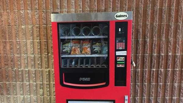 The vending machine that caught fire at APS
