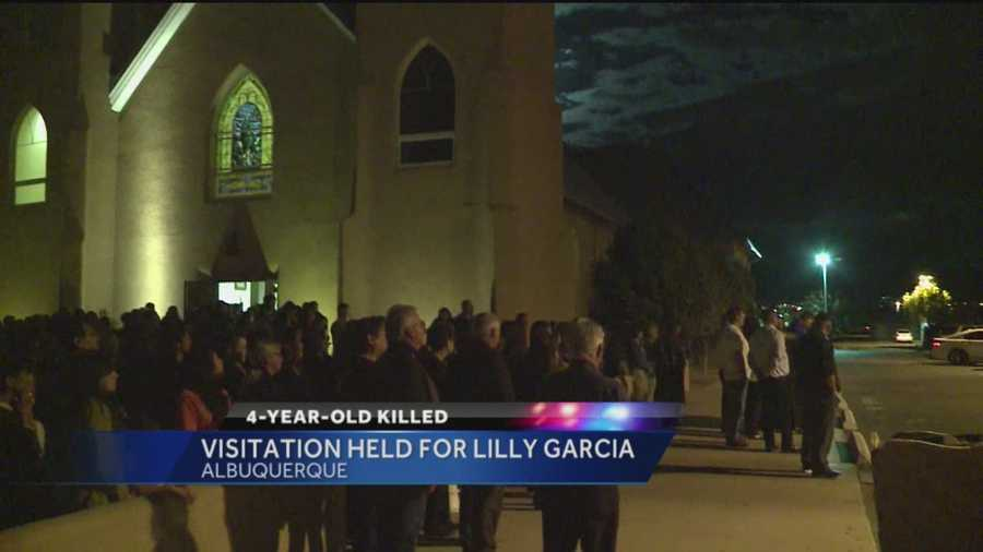 The Albuquerque community filled the Nativity of the Blessed Virgin Mary Catholic Church Monday night to say goodbye to a 4-year-old girl shot and killed last week.
