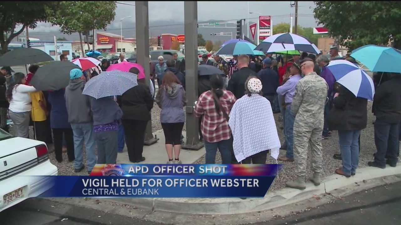 Officer Daniel Webster was transported to an Albuquerque funeral home Friday.