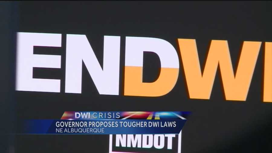 Governor proposes tougher DWI laws